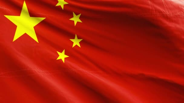 close-up view of China flag on background