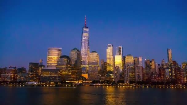 panorama New Yorku v noci