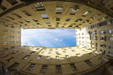 Architecture and beauty of Moscow houses in the city center  Photos taken on the streets of Moscow, 30.04.2017, sky, facade, architecture