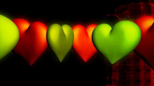 světlé srdce na barevné pozadí