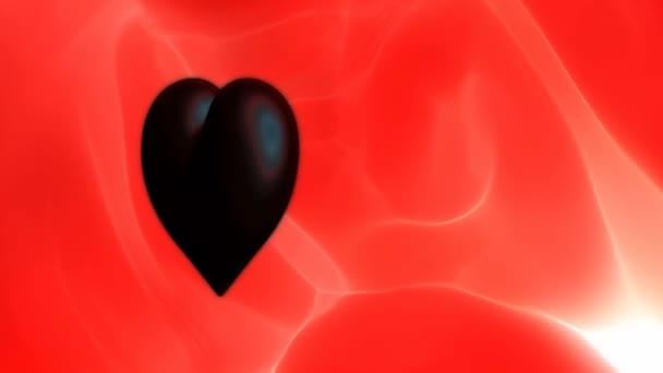 Černá srdce na jasně červeném pozadí
