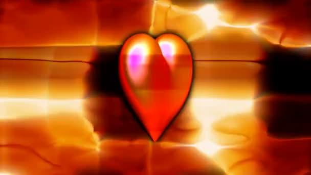jasně červené srdce na barevné pozadí