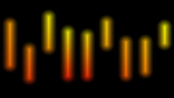 Motion grafika a animované pozadí pulzující linie působí podobně jako audio ekvalizér nebo waveform