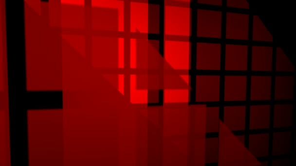 abstract motion graphics of red square patterns on dark background