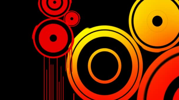 Loopable abstraktní Digitální vektorové animace pozadí. Opakování bezešvé retro tvar barvu pohybu grafické prvky