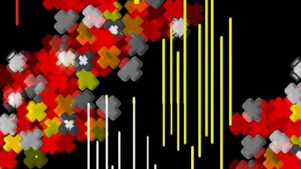 Loopable absztrakt digitális vektor-animáció háttér. Looping zökkenőmentes retro alakzat színét mozgás grafikai elemek.