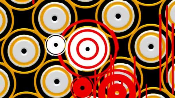 Ambiti di provenienza di vettore digitale astratto loopable animazione. Ciclo di elementi grafici senza giunte retrò sfondo colore movimento.