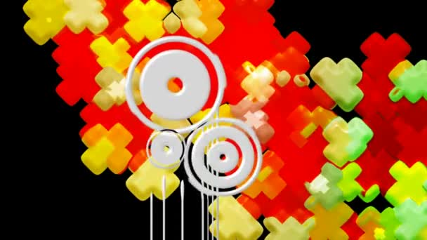 loopable abstrakte digitale Vektoranimation Hintergründe. looping nahtlose retro form color motion grafik elemente.