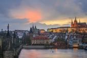 Panoramatický pohled do Prahy, hlavní město České republiky