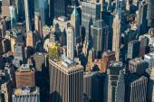 View to New York City skyline from the helicopter