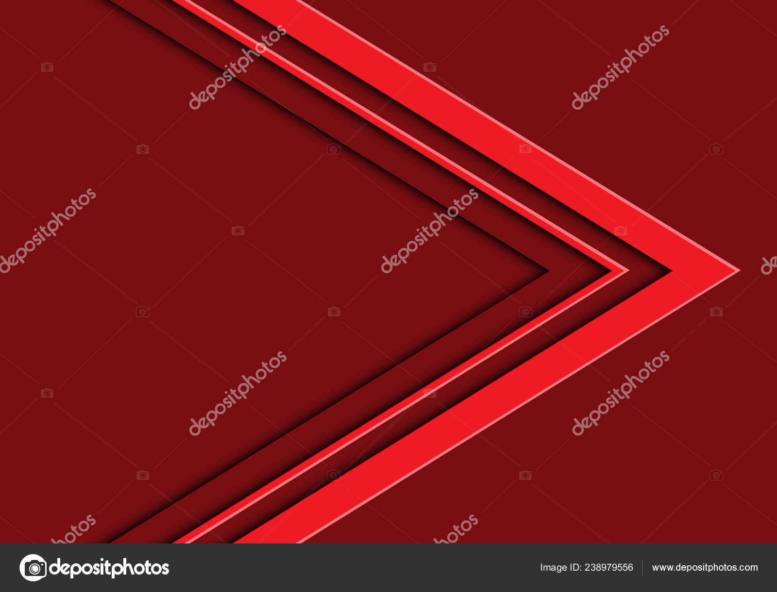 Freccia Tono Rosso Astratto Con Spazio Vuoto Progettazione Moderna