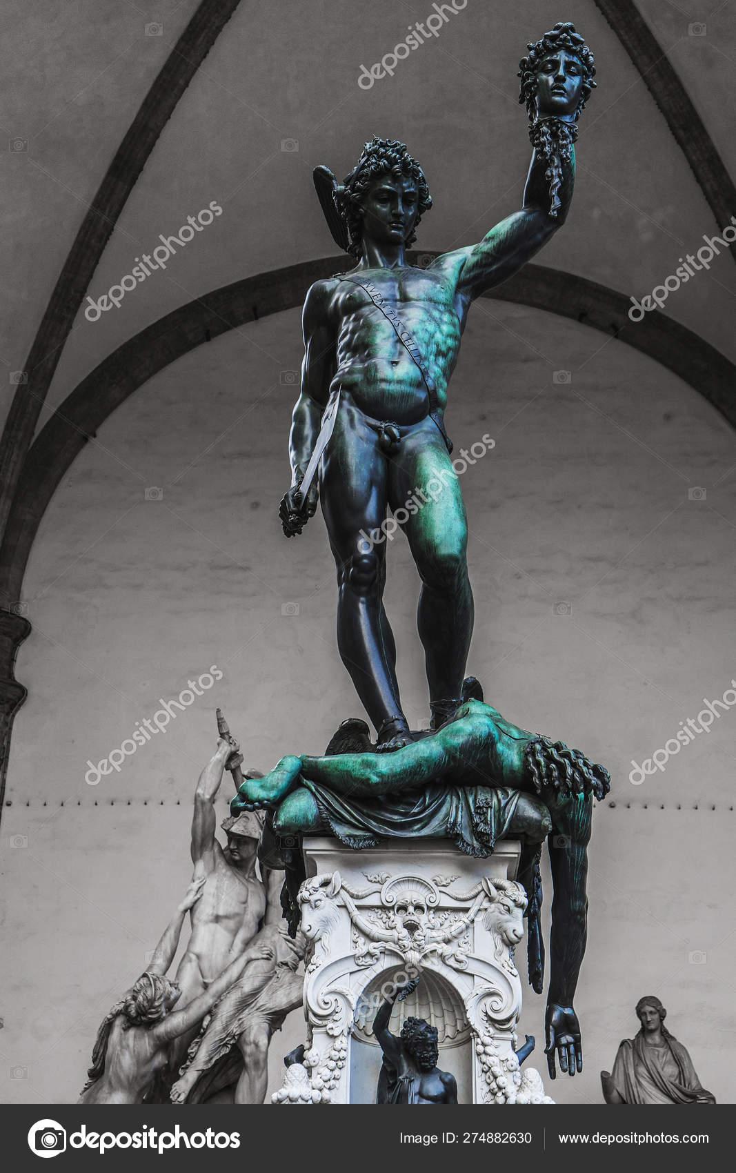 Perseus Head Medusa Gorgon Sculptor Benvenuto Cellini Made