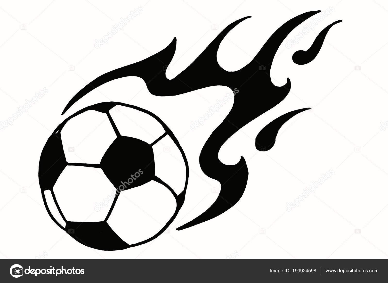 Imágenes Balones De Futbol Con Fuego Para Dibujar Balón