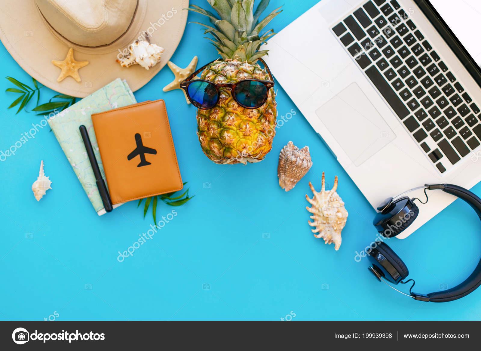 Portátil Laico Piña Gafas Vacaciones Verano Completamente Concepto K1c3JTFl