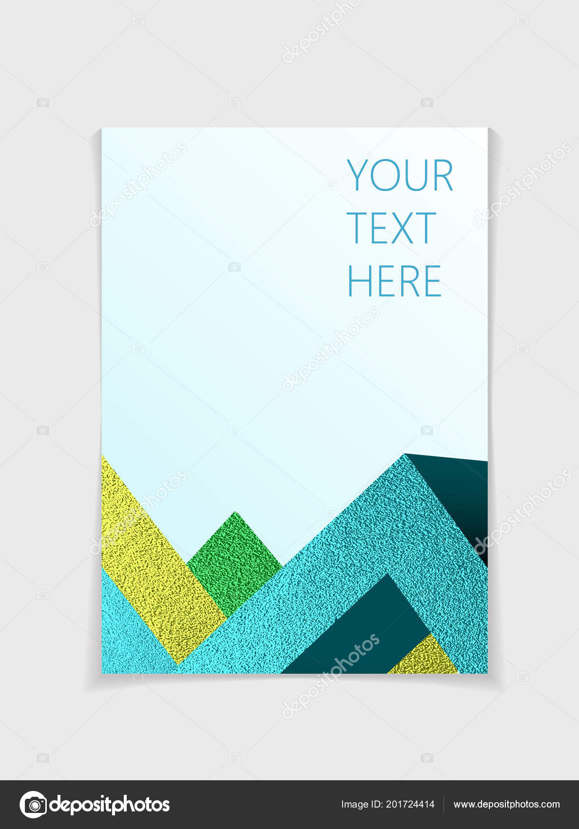 Brochure Modern Colorful Geometric Elements Cover Page