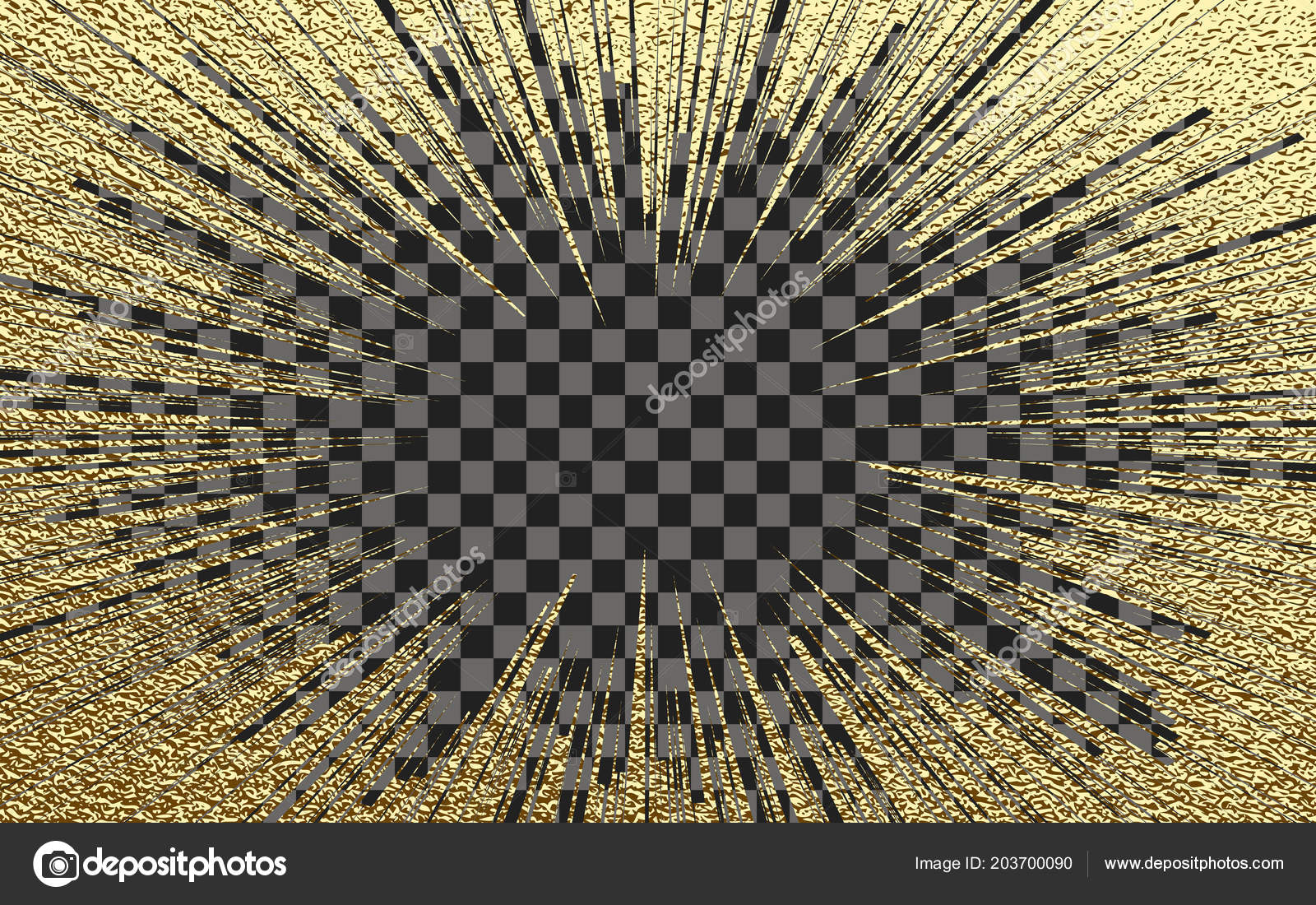 Light Rays Effect Vector Gold Glitter Particles Background Effect