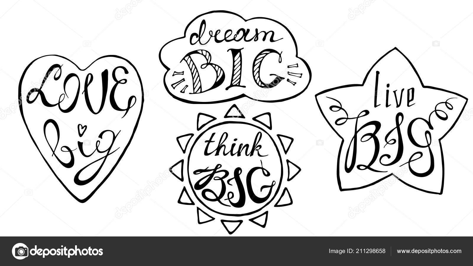 Conceito Frases Motivacionais Conjunto Com Mão Desenhada