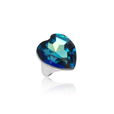 Sapphire Ring isolated on white background