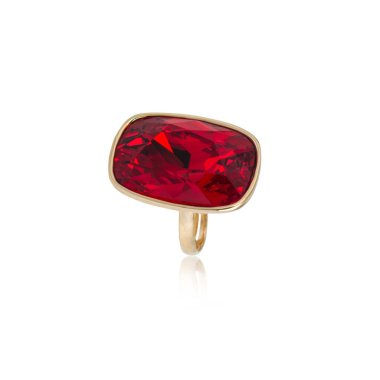 Ruby Ring isolated on white background