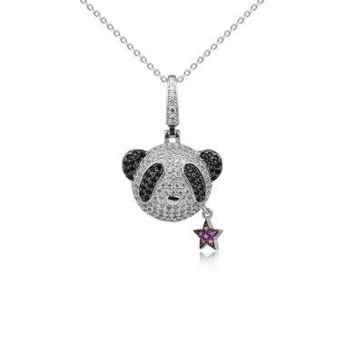 Fashion diamond pendant isolated on white background