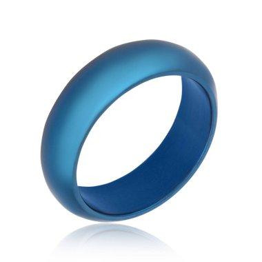 Fashion Male blue ring isolation white background
