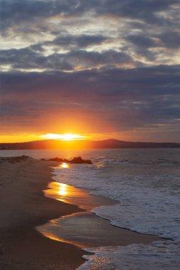 Sunset on the beachin, Vietnam