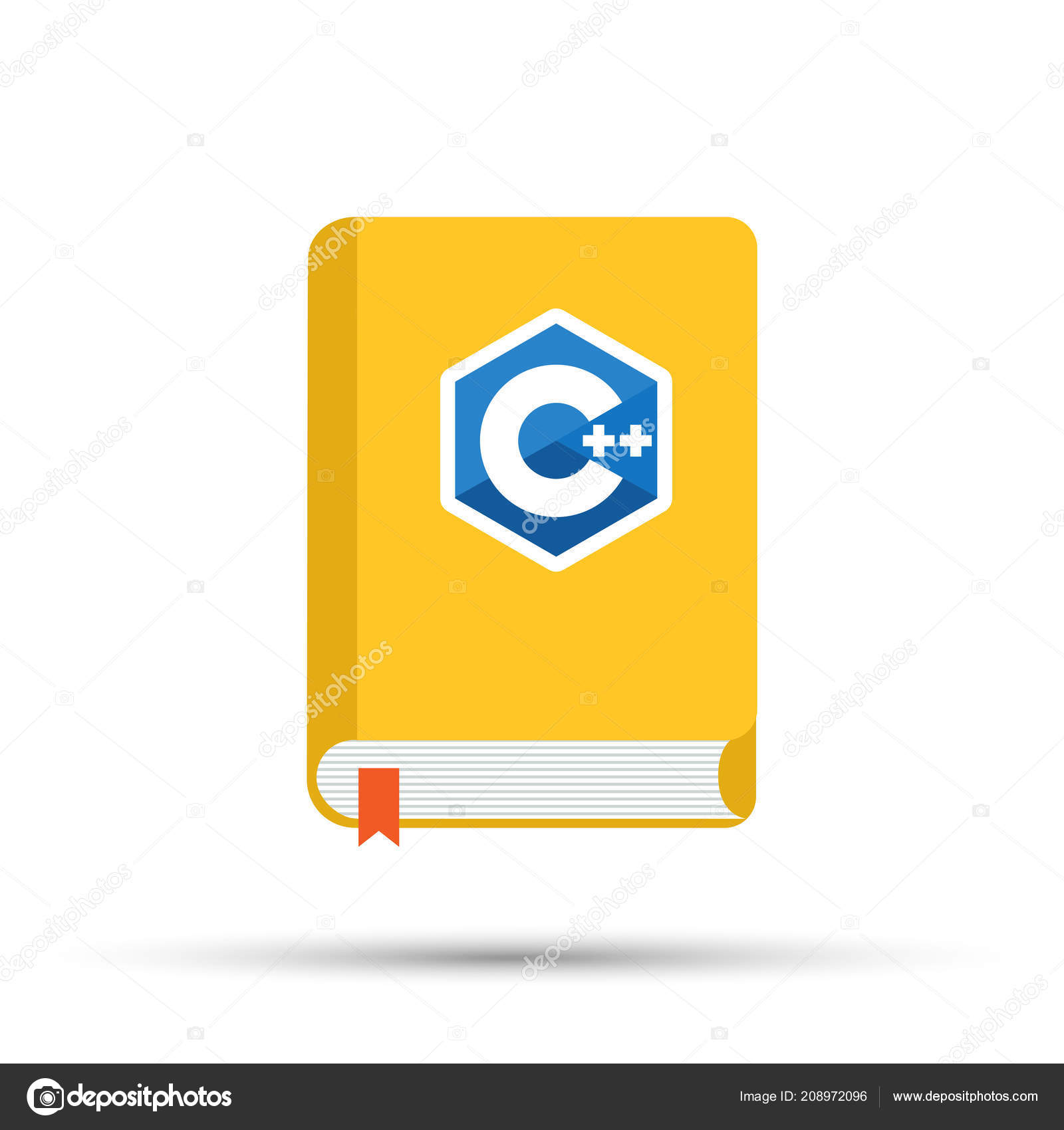 c9cc2cee674 Icon of books about programming. A book on the C programming language. —  Stock
