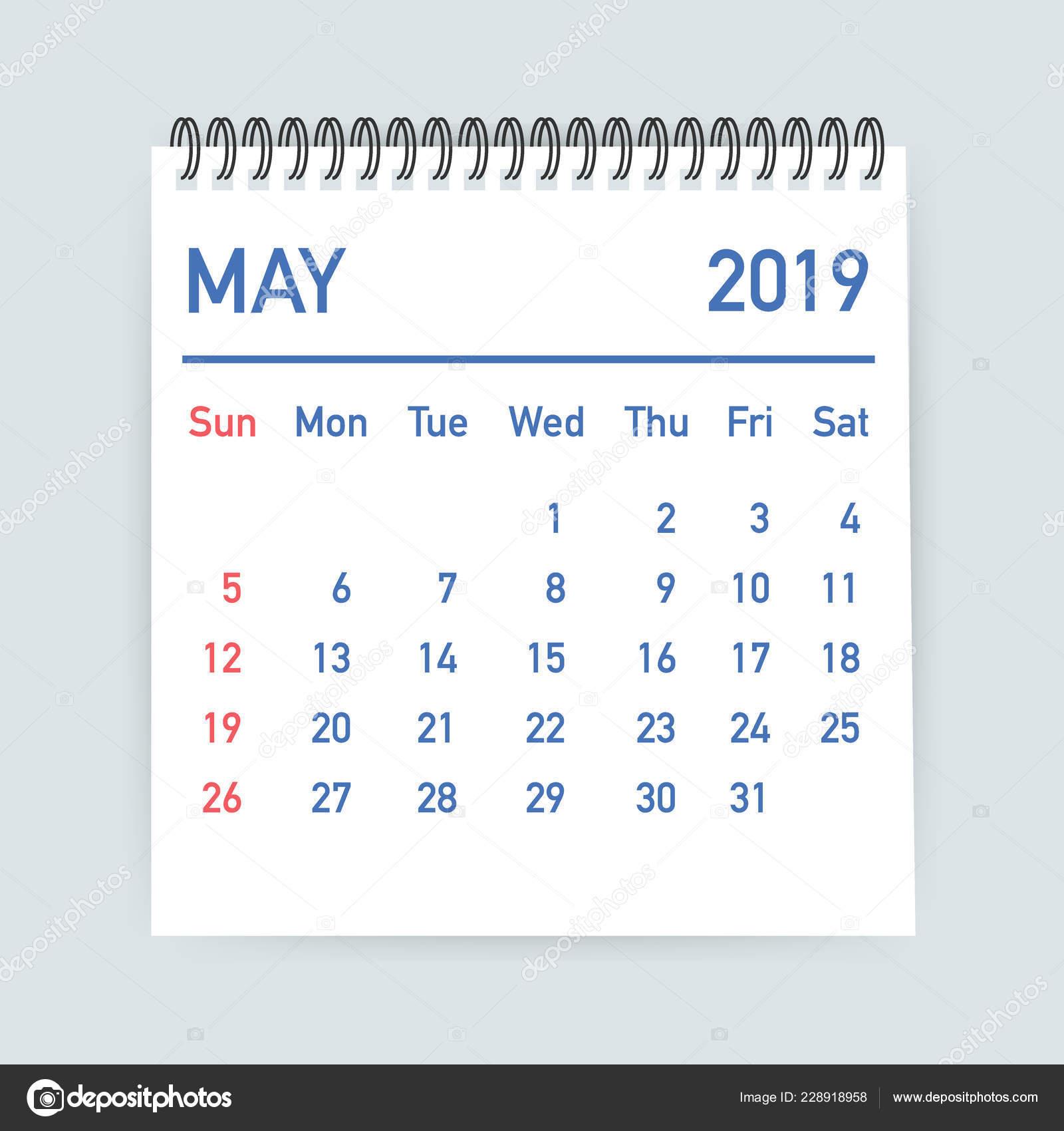 Mai Calendrier 2019.Feuille De Calendrier Mai 2019 Calendrier 2019 Dans Le
