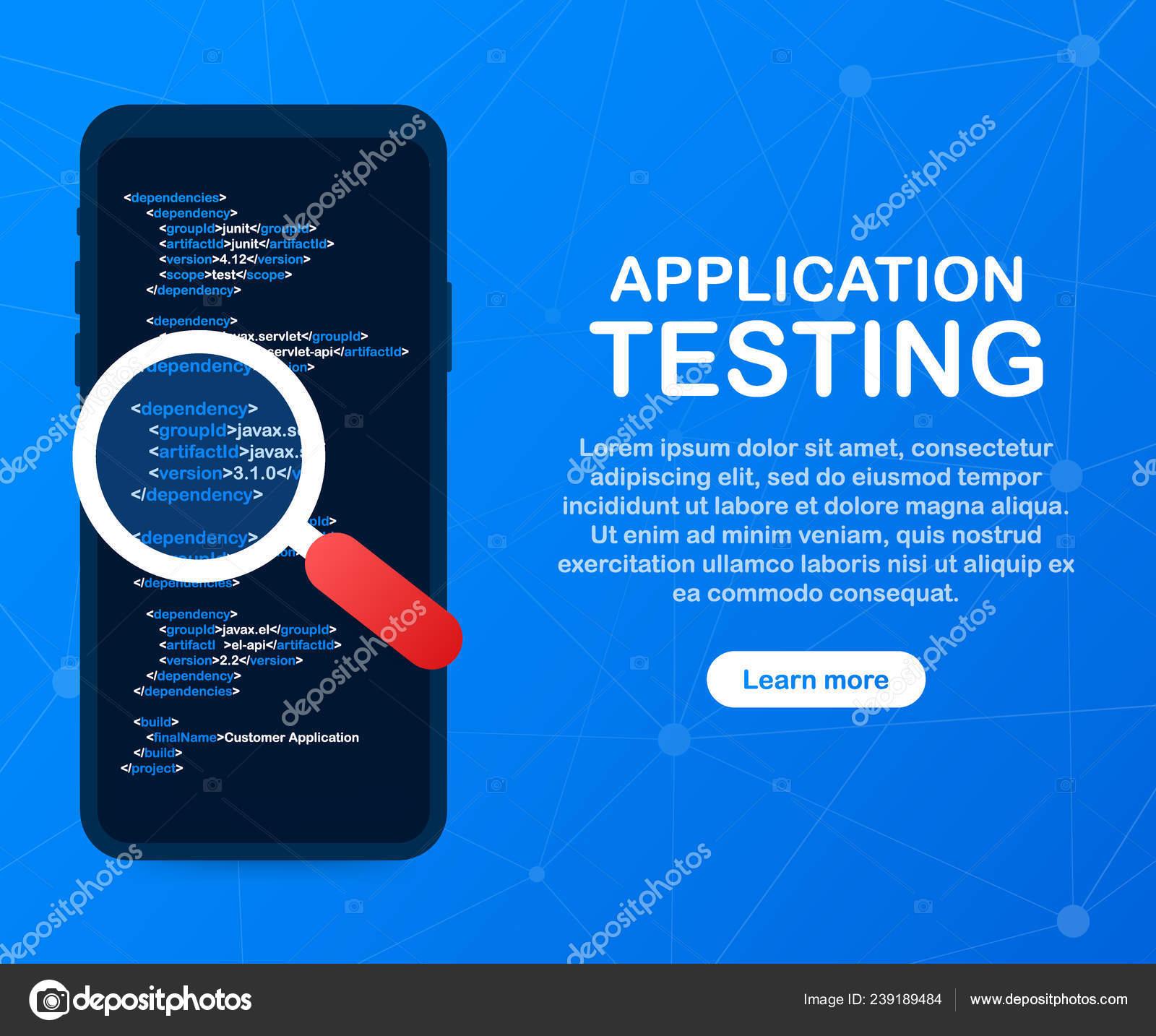 Application testing  Software development workflow process coding