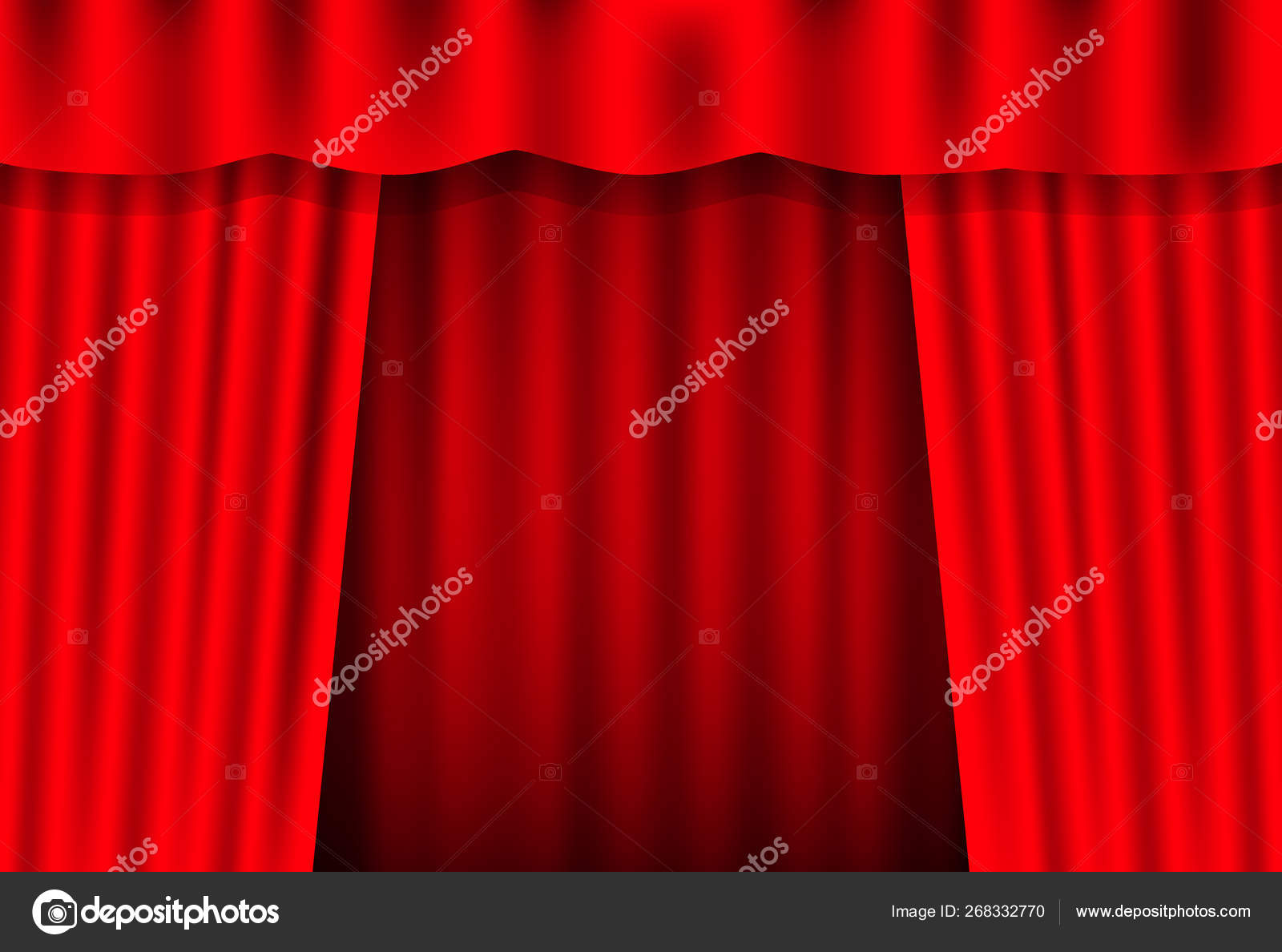 Entertainment Curtains Background For Movies Beautiful Red Theatre Folded Curtain Drapes On Black Stage Vector Stock Illustration Image By C Appleboy 268332770