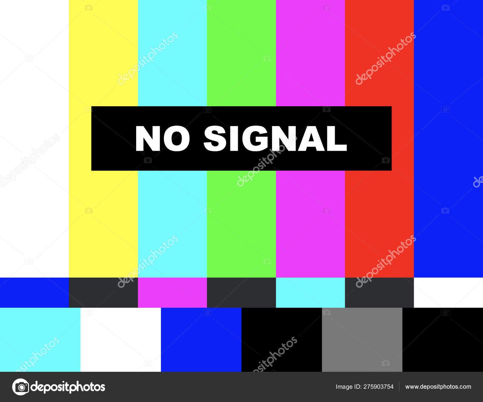 No signal  Distorted glitch tv  Descendant network  Vector stock