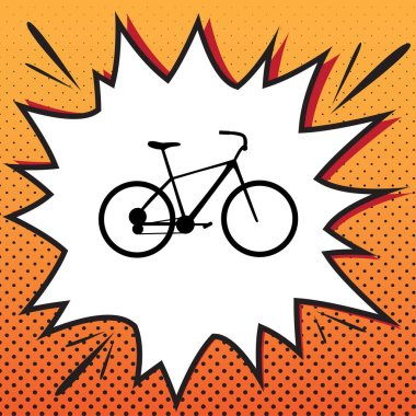 Bicycle, Bike sign. Vector. Comics style icon on pop-art backgro