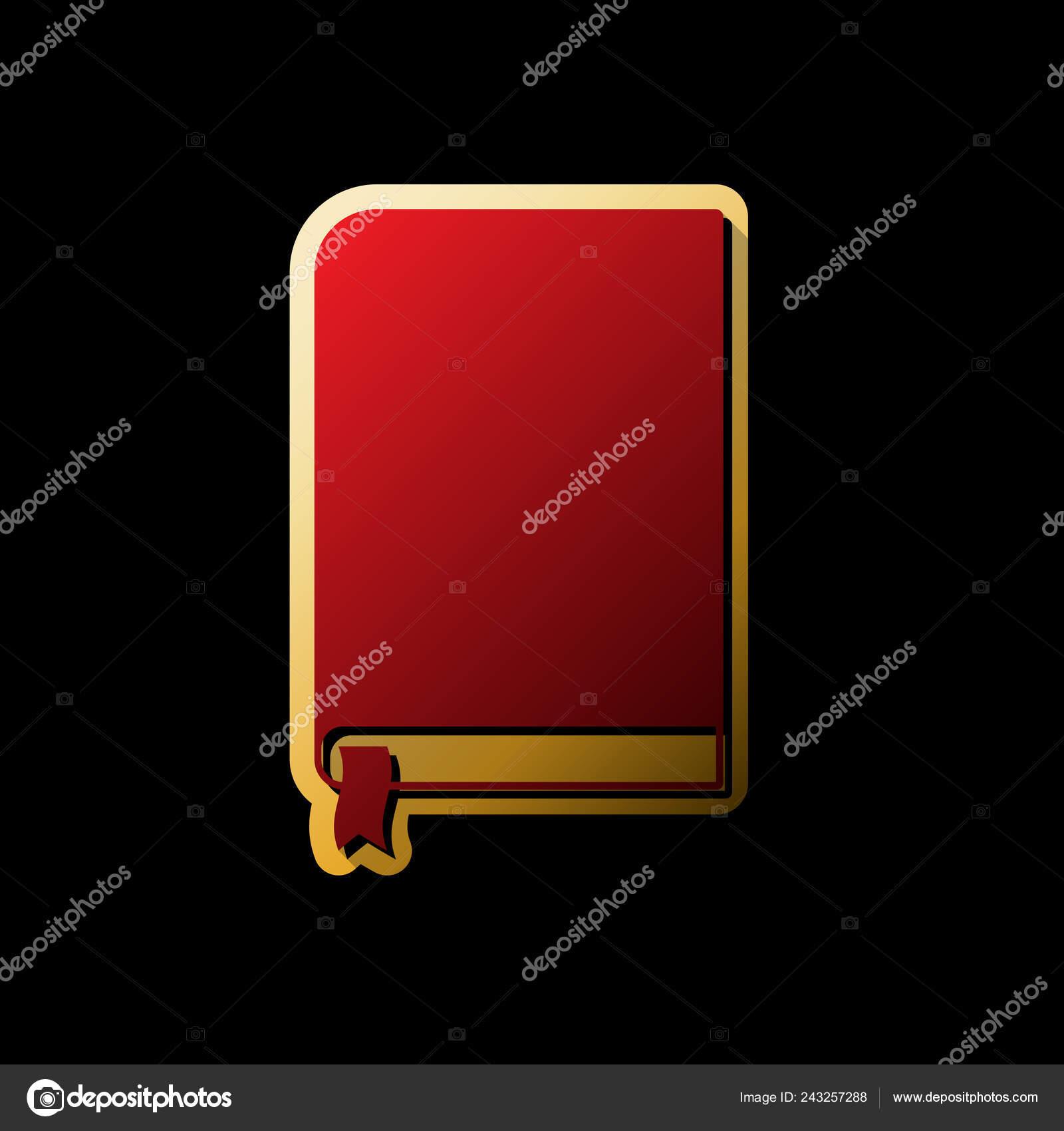 Signe Livre Vector Icone Rouge Avec Petits Ombres Noires