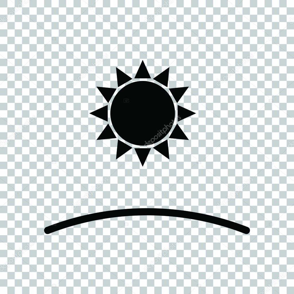 sunrise and sunset icon black icon on transparent background premium vector in adobe illustrator ai ai format encapsulated postscript eps eps format sunrise and sunset icon black icon