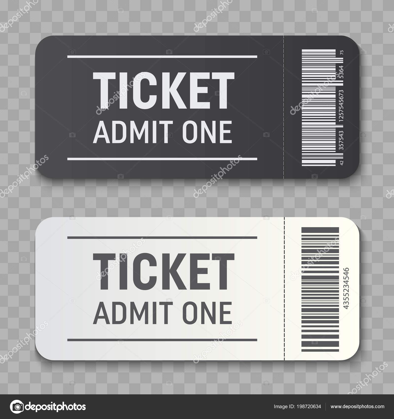Creative vector illustration of empty ticket template mockup set ...