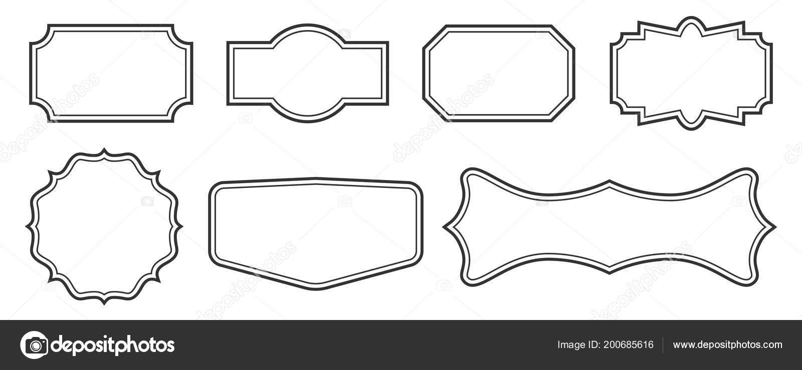 creative vector illustration set of decorative vintage frames