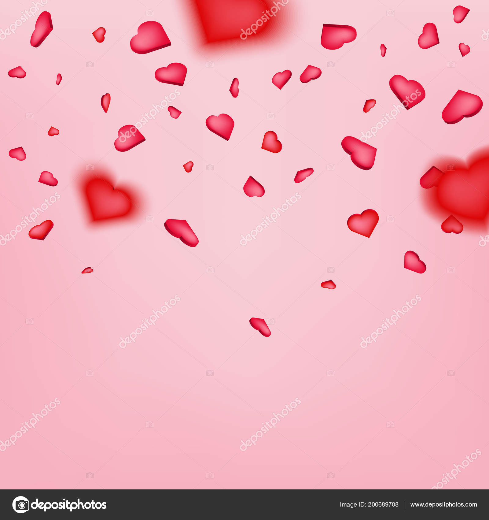 Creative Vector Illustration Of Heart Confetti Happy Valentines