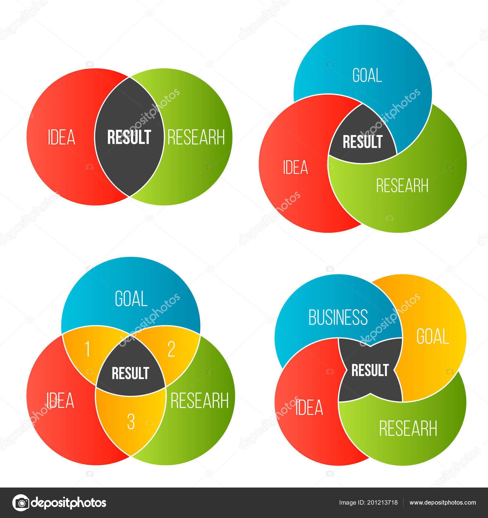 Ilustrao em vetor criativos de negcios apresentao slide modelo ilustrao em vetor criativos de negcios apresentao slide modelo crculo diagrama de venn isolado em fundo transparente ccuart Choice Image
