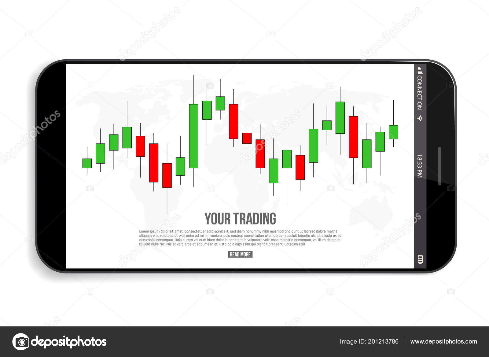 Creative Vector Illustration Of Forex Trading Diagram Signals How To Read Cellphones Schematic Diagrams Isolated On Background Buy Sell Indicators