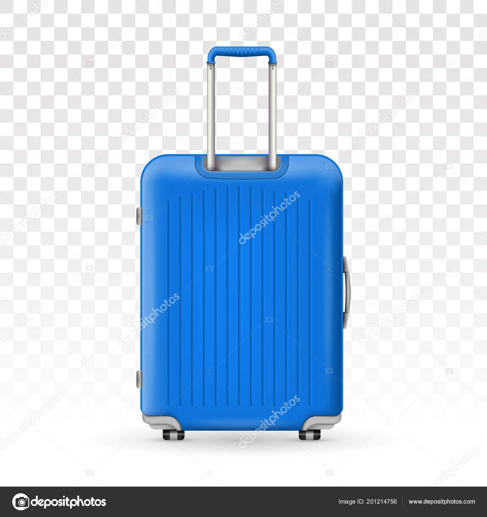 Творческие Векторная Иллюстрация реалистичные большой поликарбоната  путешествия Пластиковый чемодан с колесами, изолированные на прозрачном фоне 3ebc4cf8779