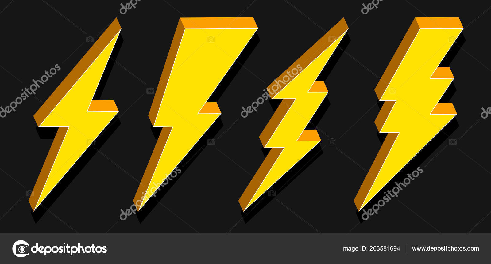 Creative vector illustration of thunder and bolt lighting flash
