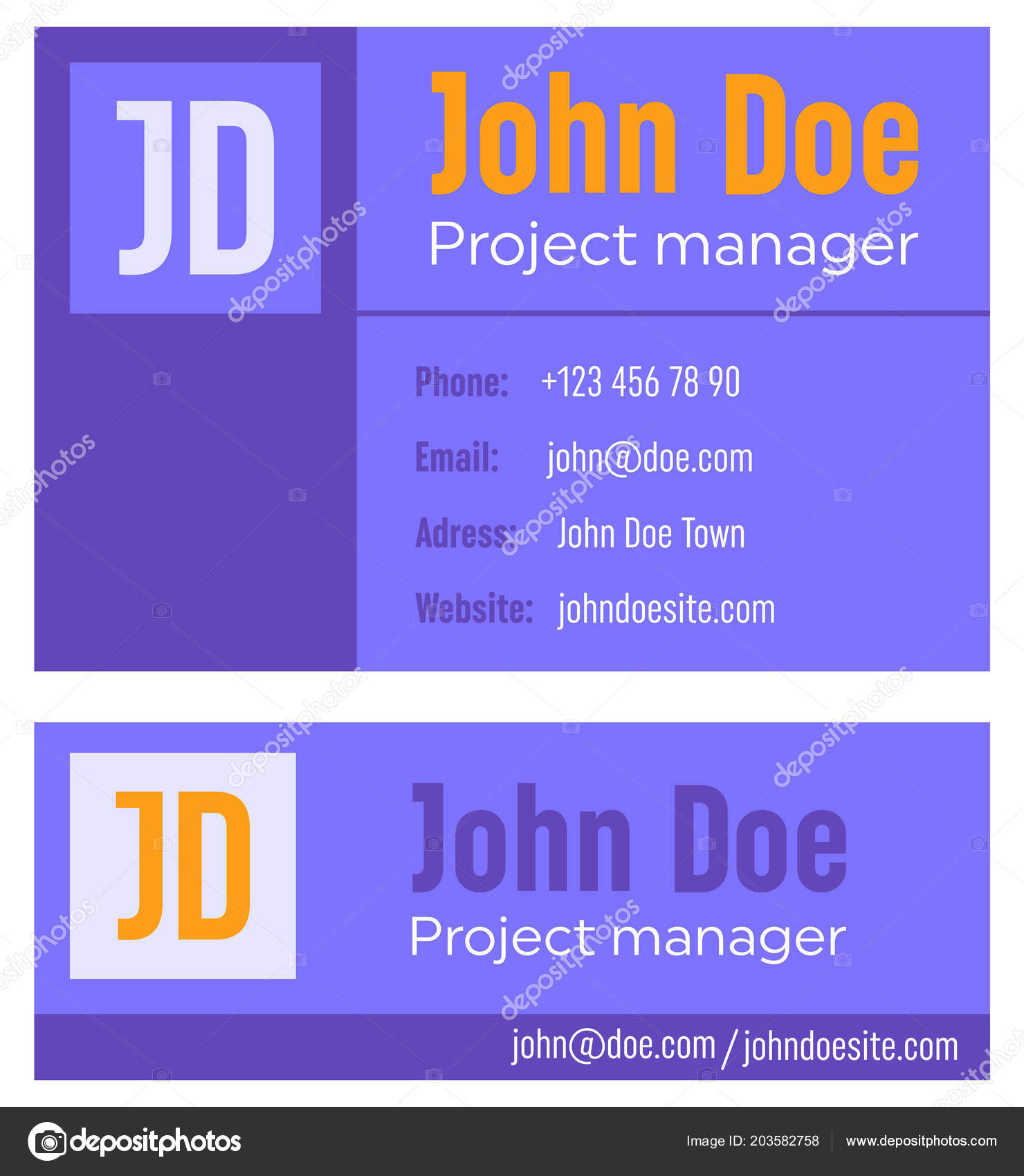 Creative vector illustration of business e mail signature template