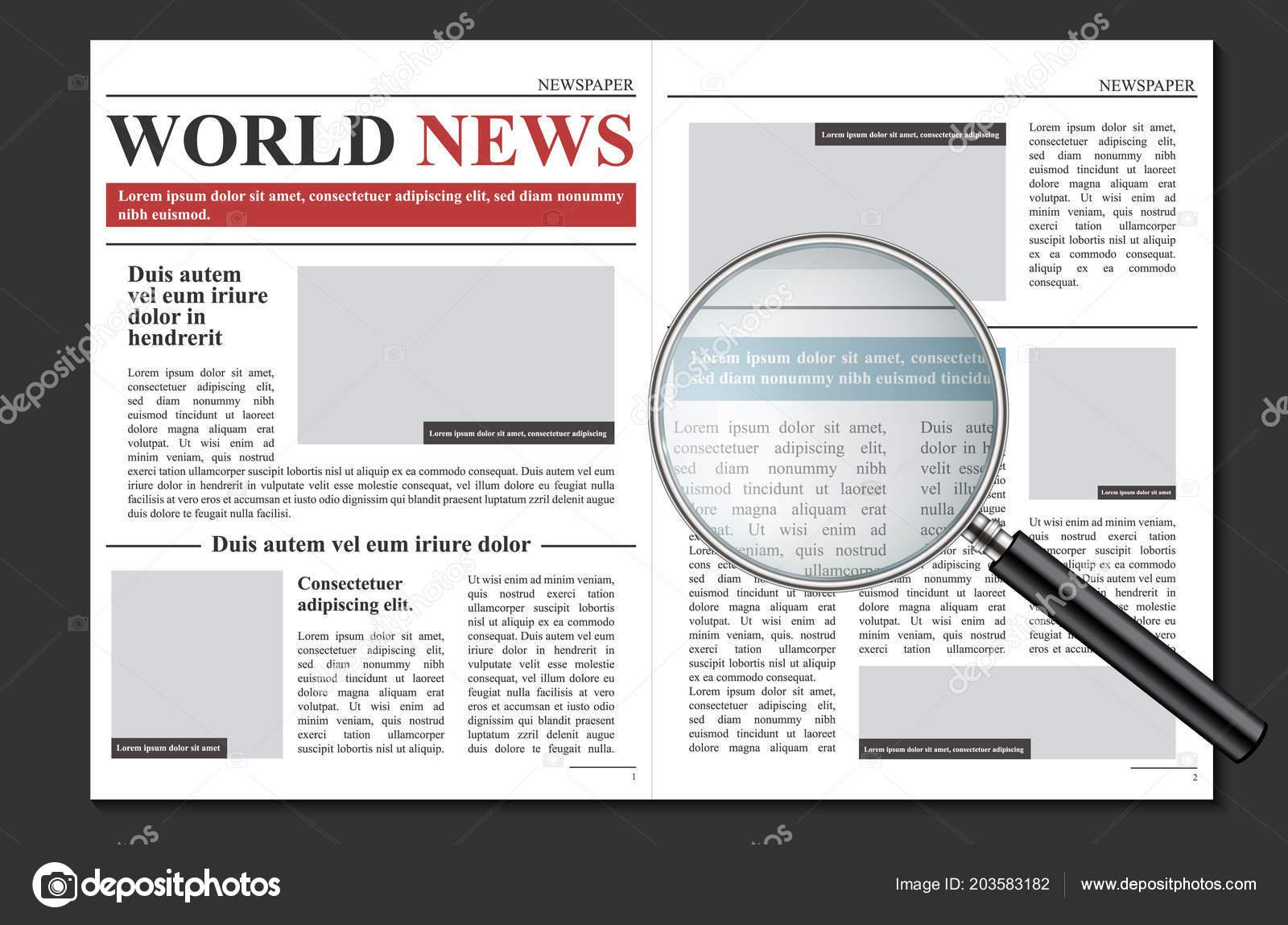 Ilustración de vector creativo diario periódico revista noticias ...
