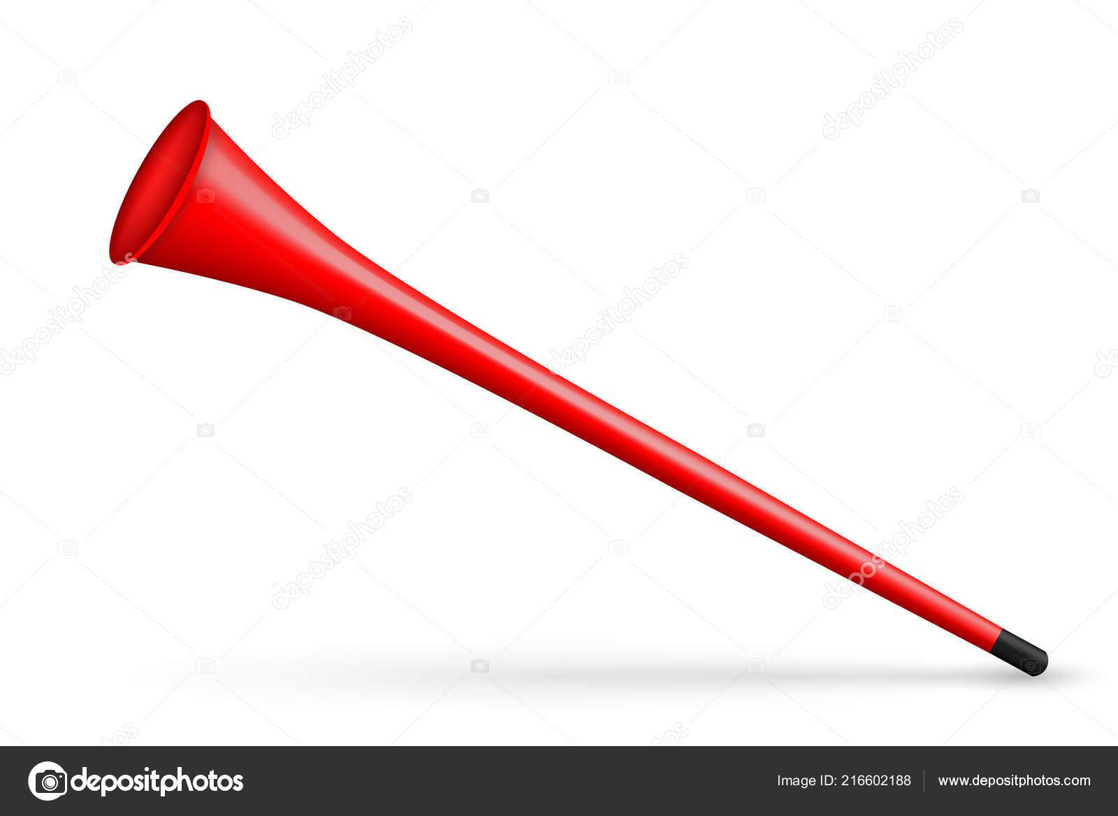 Kreative Vektor Illustration Der Vuvuzela Trompete Rohr