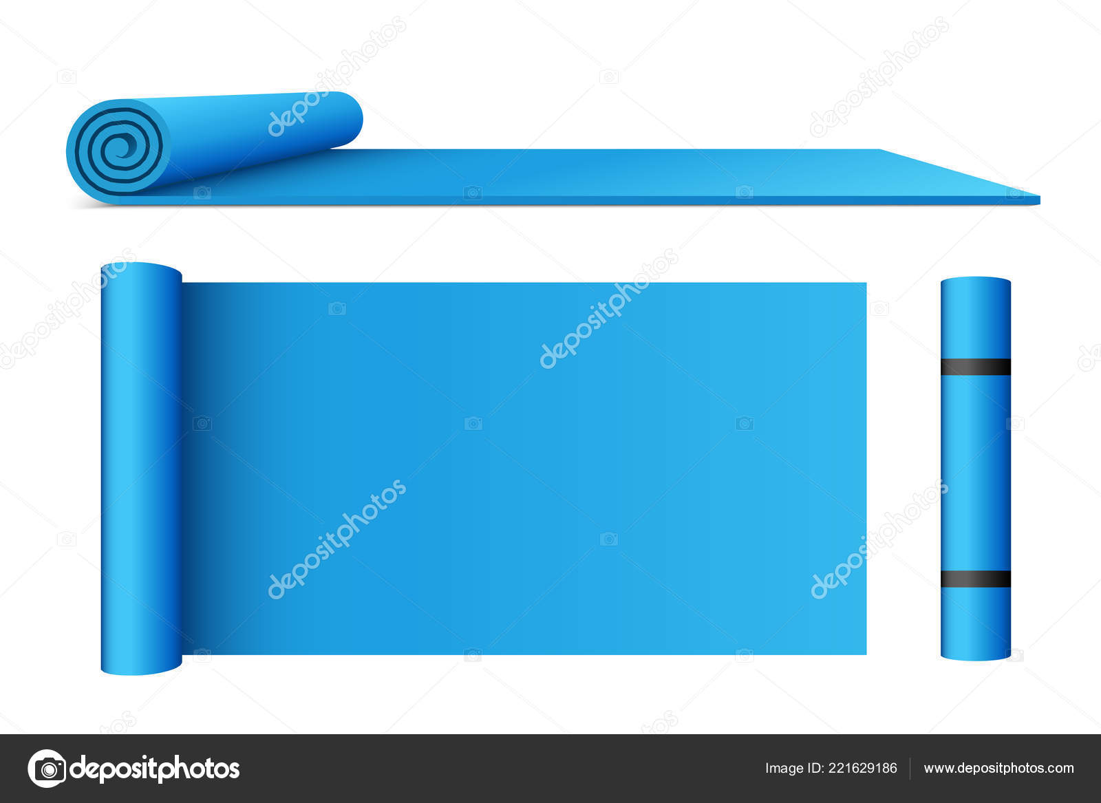 Creative Vector Illustration Of Half Rolled Yoga Mat Isolated On Transparent Background Art Design Fitness And Health Template Abstract Concept Graphic Pilates Exercise Equipment Element Stock Vector C Mikhail Grachikov 221629186