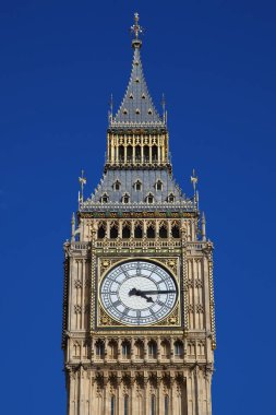 Europe, United Kingdom, England, London,  Big Ben clock tower stock vector