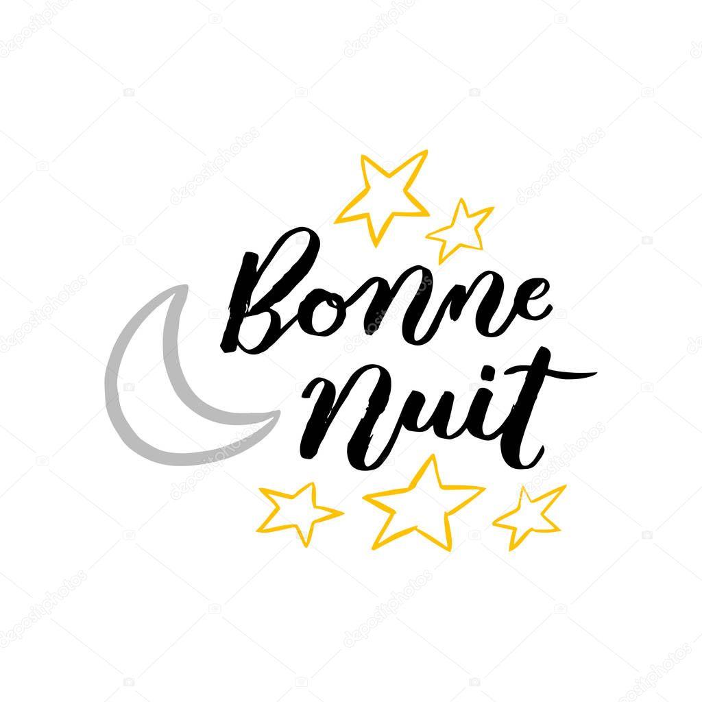 Bonne Nuit Buenas Noches Letras Francesas Con Luna Estrellas