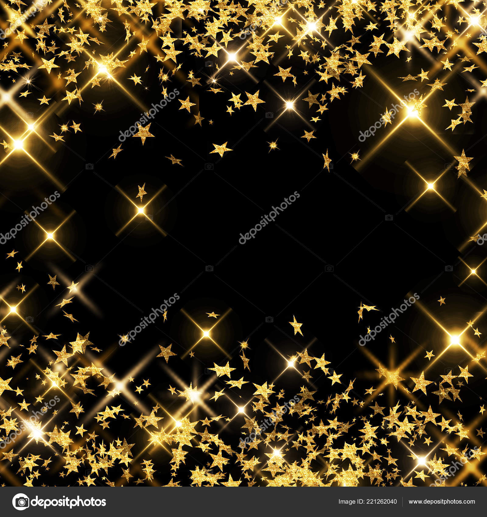 Abstract Background Black Christmas Confetti Decoration
