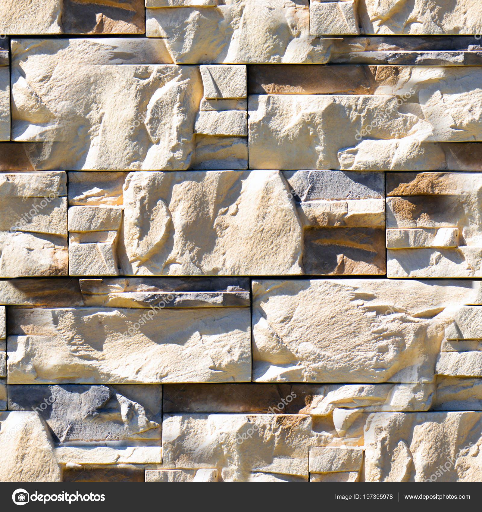 Modern Stone Brick Wall Background Seamless Decorative