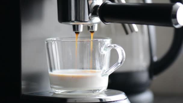Káva manchine profesionální káva, káva making ráno